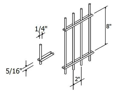 Dimension showed in the sketch of double wire fence.