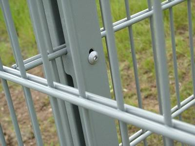 Double wire high security fence features rigidity.