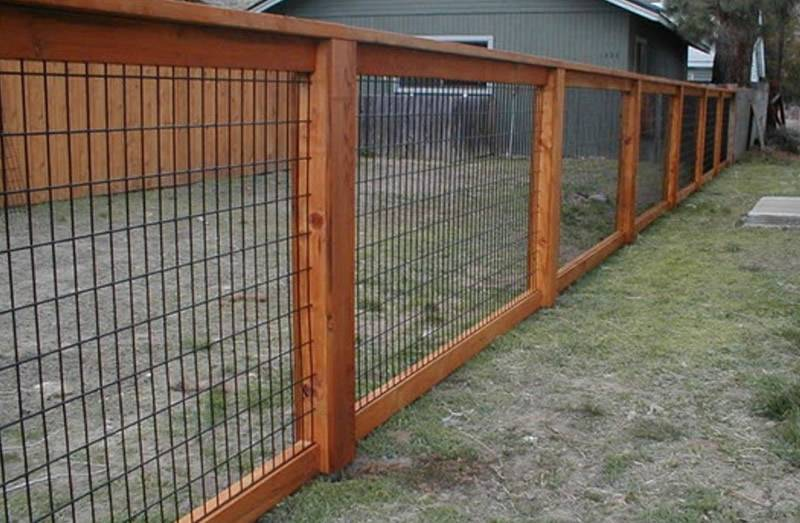 Horse panel fencing for a house.