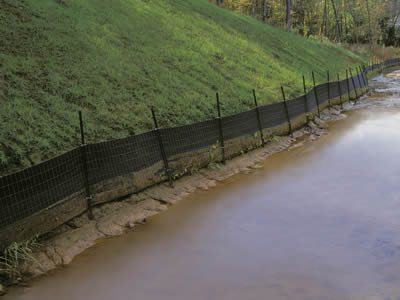 Silt Fence With Welded Wire Mesh For Riverside Hillside