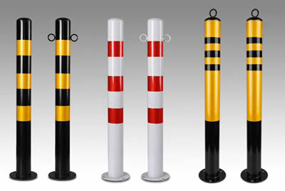 There are six different types steel traffic cylinders.