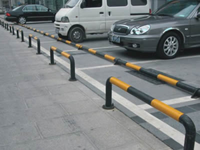 Steel Wheel Stops For Indoor And Outdoor Parking Roadside